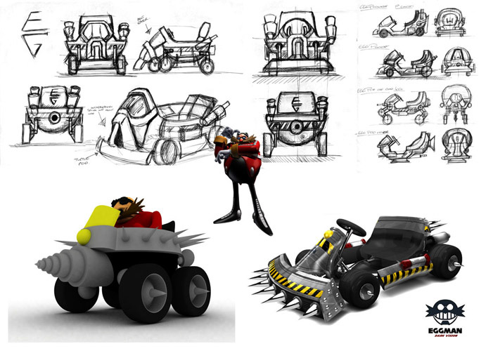 Dr Eggman - Sketches to final render