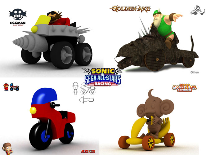 Sonic & Sega all star racing concepts