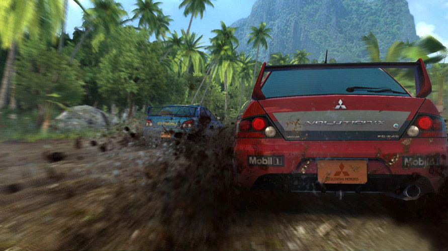 Sega Rally Mud splatter